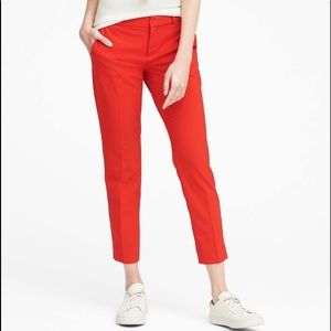 Banana Republic Avery red ankle pants. Sz 12. NWT